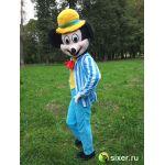 Ростовая кукла Микки Маус голубой костюм