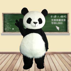 Ростовая кукла Панда с густым ворсом, меховая