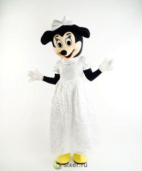 Ростовая кукла Мини Маус в белом платье