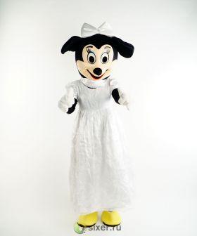 Ростовая кукла Мини Маус в белом платье фото №2