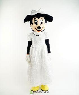 Ростовая кукла Мини Маус в белом платье фото №3