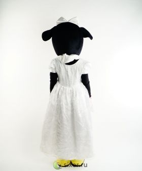 Ростовая кукла Мини Маус в белом платье фото №4