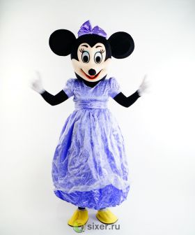 Ростовая кукла Мини Маус в фиолетовом платье фото №2