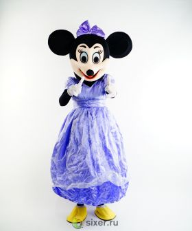 Ростовая кукла Мини Маус в фиолетовом платье фото №3