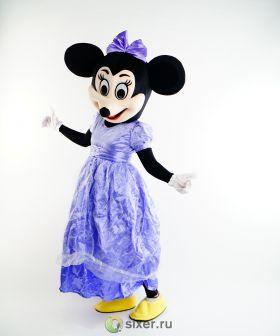 Ростовая кукла Мини Маус в фиолетовом платье фото №5