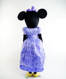 Ростовая кукла Мини Маус в фиолетовом платье фото №6