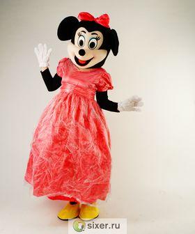 Ростовая кукла Мини Маус розовом платье