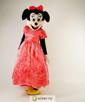 Ростовая кукла Мини Маус розовом платье фото №3