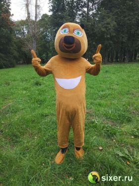 Ростовая кукла Медведь желтый фото №2