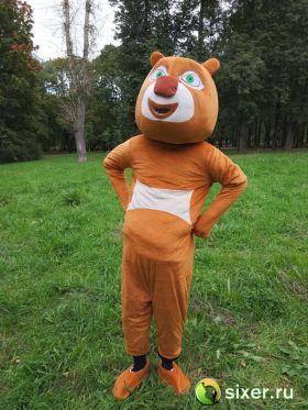 Ростовая кукла Медведь коричневый фото №3