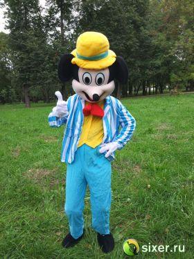 Ростовая кукла Микки Маус голубой костюм фото №3