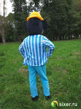 Ростовая кукла Микки Маус голубой костюм фото №6