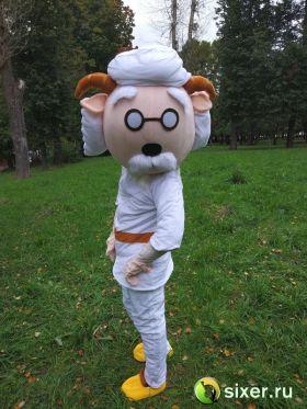 Ростовая кукла Профессор козлик фото №3